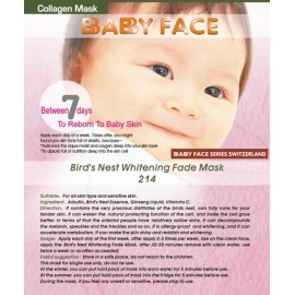 BABY FACE Bird's Nest Whitening Fade Mask 燕窩深層淨白去印面膜
