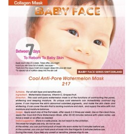 BABY FACE Cool Anti-Pore Watermelon Mask 西瓜冰爽收毛孔面膜